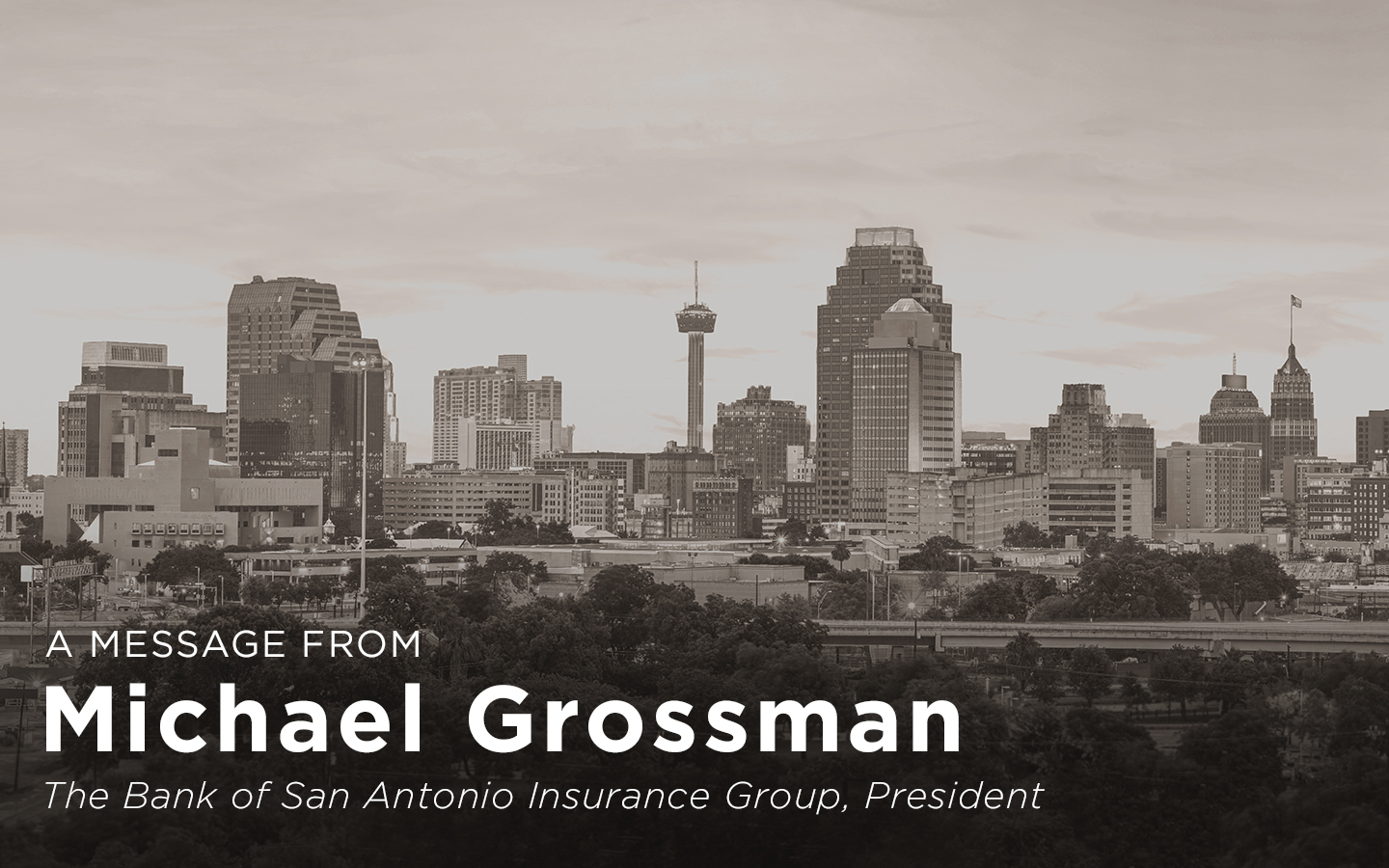 A message from Michael Grossman